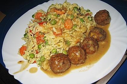 Reis - Gemüse - Pfanne mit Frischkäse 6