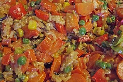 Reis - Gemüse - Pfanne mit Frischkäse 14