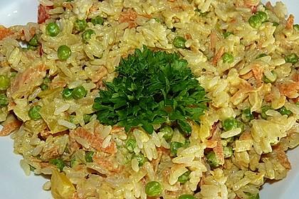 Reis - Gemüse - Pfanne mit Frischkäse 1