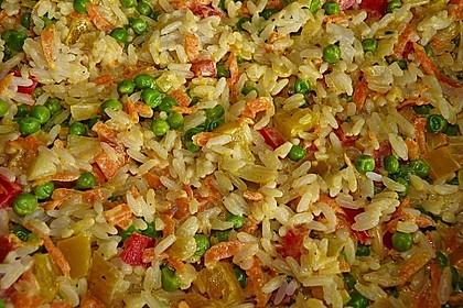 Reis - Gemüse - Pfanne mit Frischkäse 3