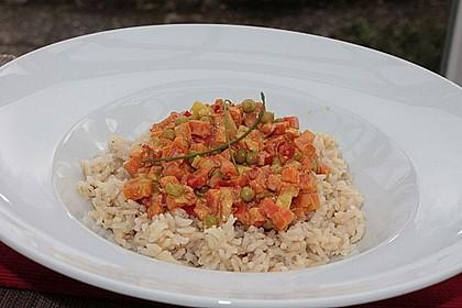 Reis - Gemüse - Pfanne mit Frischkäse 22