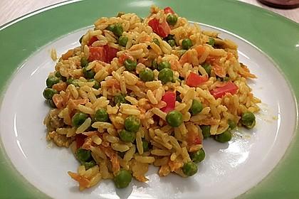 Reis - Gemüse - Pfanne mit Frischkäse 2