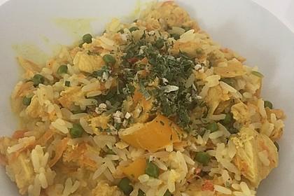 Reis - Gemüse - Pfanne mit Frischkäse 17