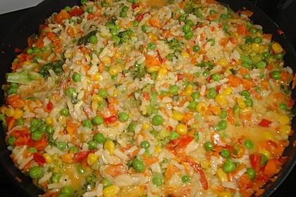 Reis - Gemüse - Pfanne mit Frischkäse 13