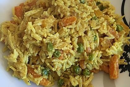 Reis - Gemüse - Pfanne mit Frischkäse 25