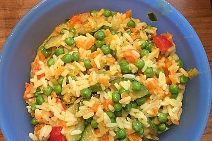 Reis - Gemüse - Pfanne mit Frischkäse 28