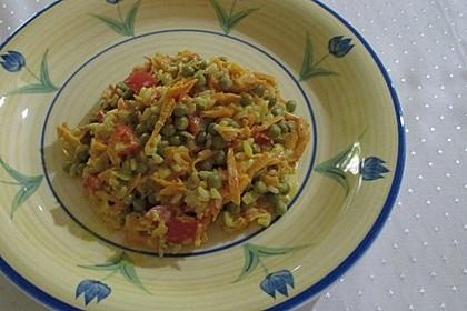 Reis - Gemüse - Pfanne mit Frischkäse 10