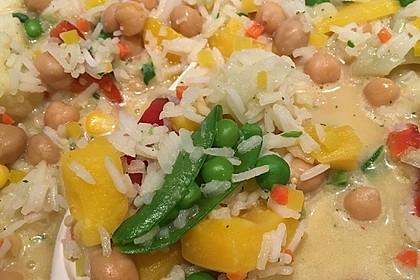 Reis - Gemüse - Pfanne mit Frischkäse 31