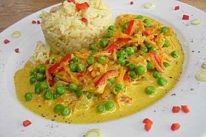 Reis - Gemüse - Pfanne mit Frischkäse 4