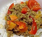 Dieters Curry - Lauch - Ingwer - Chili Hackfleisch