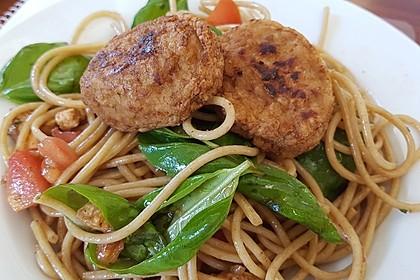 Spaghetti Salat mit Mozzarella und Tomaten 1