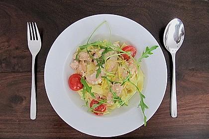 Pasta mit Lachs - Zitronen - Weißweinsauce