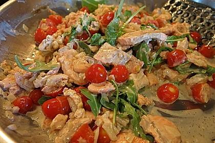 Pasta mit Lachs - Zitronen - Weißweinsauce 8
