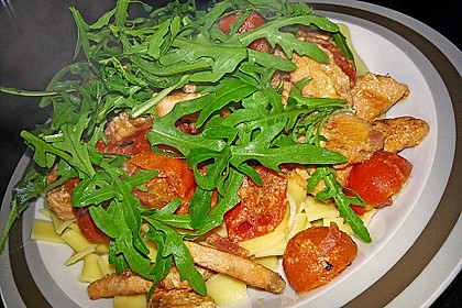 Pasta mit Lachs - Zitronen - Weißweinsauce 5