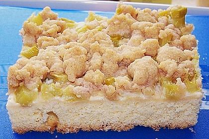 Rhabarberkuchen mit Streusel 4