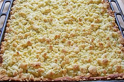 Rhabarberkuchen mit Streusel 3