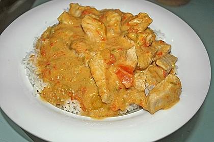 Hähnchenbrüste mit Paprika - Sahnesauce 2