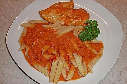 Hähnchenbrüste mit Paprika - Sahnesauce 1
