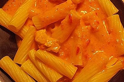 Hähnchenbrüste mit Paprika - Sahnesauce 4
