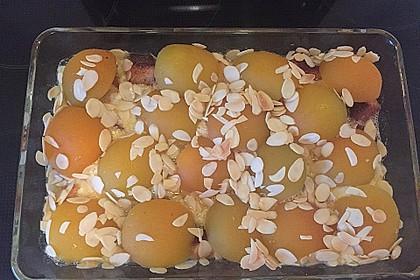Hefezopfauflauf mit Aprikosen