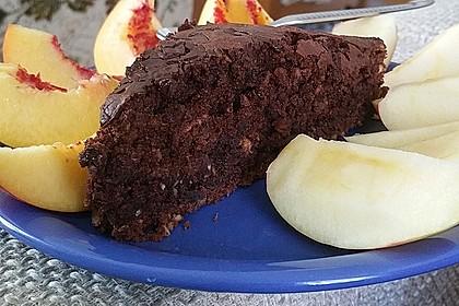 Veganer Schoko - Nuss - Kokos - Kuchen 16