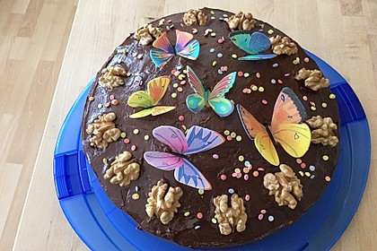 Veganer Schoko - Nuss - Kokos - Kuchen 8