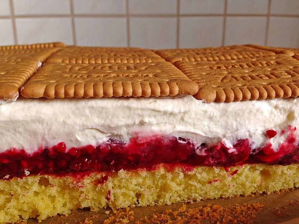 Himbeer sahne torte blech