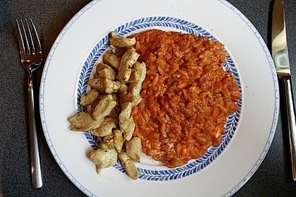 Griechische Reisnudelpfanne mit Hähnchenbrustfilet