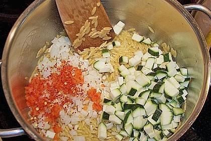 Griechische Reisnudelpfanne mit Hähnchenbrustfilet 3