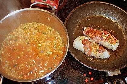 Griechische Reisnudelpfanne mit Hähnchenbrustfilet 4