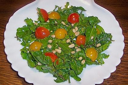 Rucola - Salat mit Pinienkernen 3