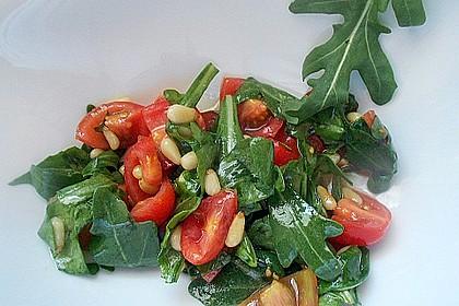 Rucola - Salat mit Pinienkernen 5