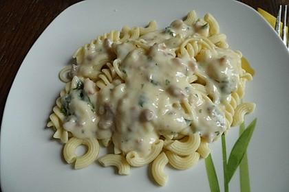 Schinken - Käse - Sauce mit Pasta 1