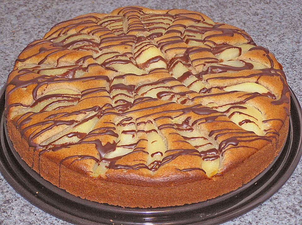 Kuchen mit birnen maronen