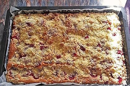 Streuselkuchen mit fruchtiger Füllung