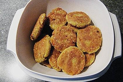 Kartoffel - Tofu Bällchen in Sesam 1