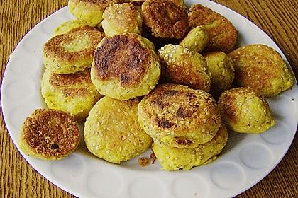 Kartoffel - Tofu Bällchen in Sesam 0