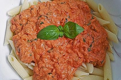 Nudeln in leichter, sämiger Thunfisch-Tomaten-Käse Sauce 28