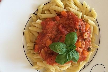 Nudeln in leichter, sämiger Thunfisch-Tomaten-Käse Sauce 19