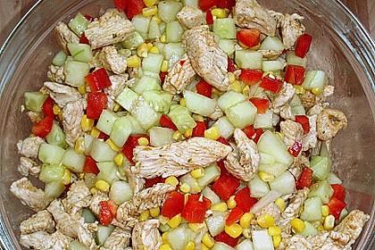 Puten - Gurken - Salat mit Honigmelone 1