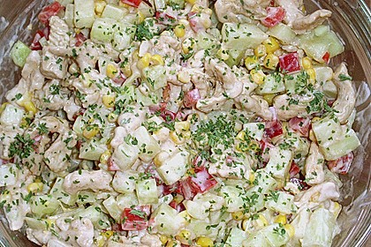 Puten - Gurken - Salat mit Honigmelone
