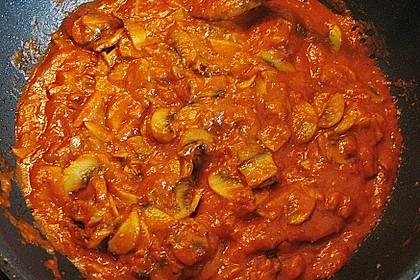 Überbackene Hähnchenfilets nach Art 'Sauce Bolognese' 2