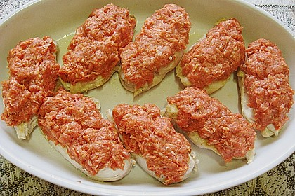 Überbackene Hähnchenfilets nach Art 'Sauce Bolognese' 6