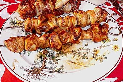 Grillspieß mit Huhn und Brezenteig 21