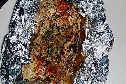 Putenschnitzel in Alufolie 2