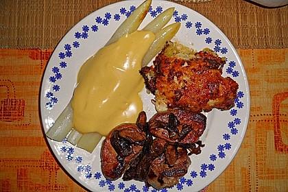 Spargel mit Sauce Hollandaise, gebratenem Schweinefilet und Kartoffelgratin 13