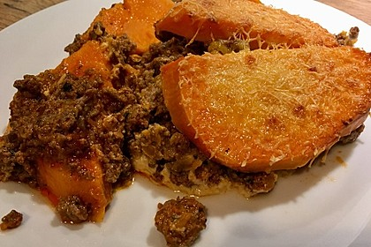 Süßkartoffel-Auflauf mit Hackfleisch 14