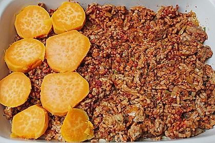 Süßkartoffel-Auflauf mit Hackfleisch 38
