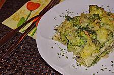 Brokkoli - Lasagne mit Champignonrahm