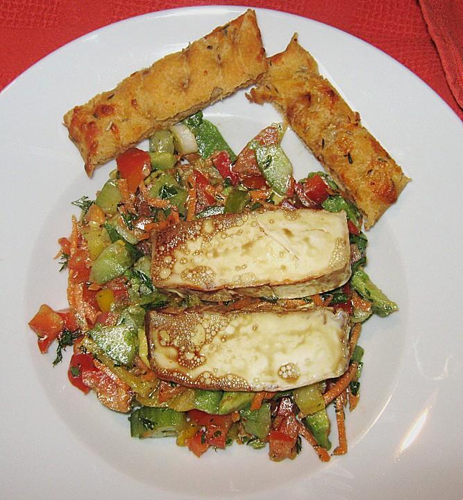 arabischer gem se salat mit gebackenem ziegenk se rezept mit bild. Black Bedroom Furniture Sets. Home Design Ideas
